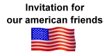 Special Invitation for our american friends